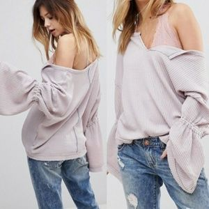 Free People Lilac Gray Dahlia Thermal